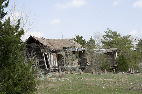 The Chicken Ranch in ruins, 2010.